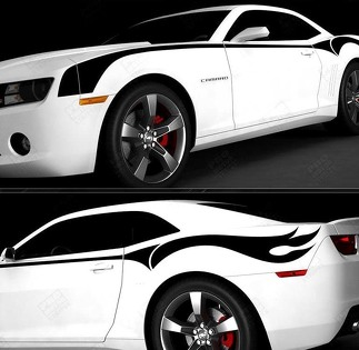 CHEVROLET CAMARO 2010-2015 FIREBREATHER SIDE THROWBACK STRIPES