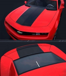 CHEVROLET CAMARO 2010-2015 FACTORY STYLE SOLID HOOD & TRUNK DECALS