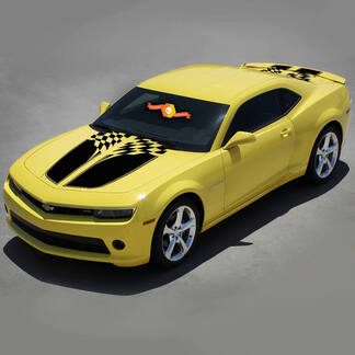CHEVROLET CAMARO 2010-2015 CHECKERED FLAG RACING VINYL STRIPES