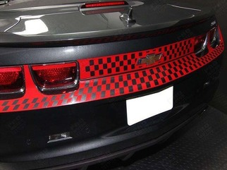 CHEVROLET CAMARO 2010-2013 REAR FASCIA TRUNK CHECKERED STRIPES