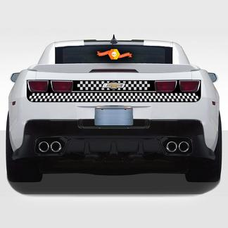 CHEVROLET CAMARO 2010-2013 REAR FASCIA TRUNK CHECKERED Vinyl STRIPES