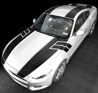 FORD MUSTANG 2015- 2017 OVER THE TOP SPORT STRIPES