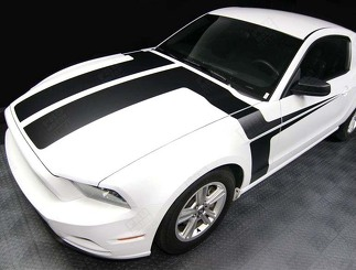 FORD MUSTANG 2013- 2014 HOOD AND SIDE ACCENT STRIPES
