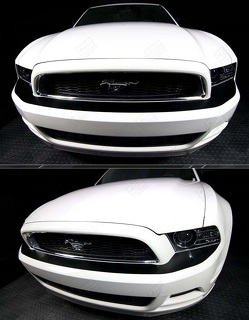 FORD MUSTANG 2013-2014 FRONT BUMPER TOP OVERLAY HIGHLIGHT STRIPES