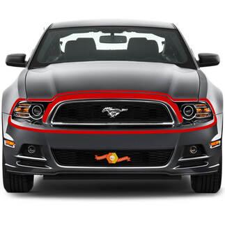 Ford Mustang 2013-2020 Front Fascia Retro-stijl Markeer Vinyl Stripe