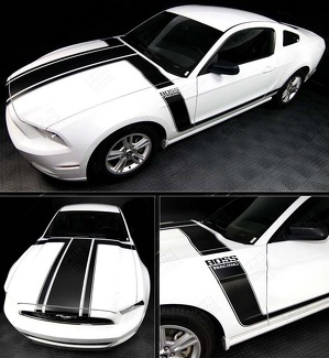 FORD MUSTANG 2013-2014 BOSS 302 STYLE HOOD & SIDE STRIPES