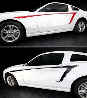 FORD MUSTANG 2010- 2014 SIDE ACCENT STRIPES
