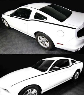 FORD MUSTANG 2010-2014 RTR STYLE SIDE ACCENT STRIPES