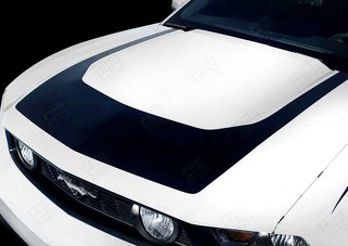 FORD MUSTANG 2010-2012 RTR STYLE HOOD STRIPE DECAL