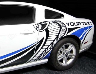 FORD MUSTANG 2010-2014 COBRA STYLE MULTI-COLOR SIDE STRIPES DECAL