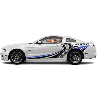 FORD MUSTANG 2010-2020 COBRA STYLE MULTI-COLOR SIDE STRIPES VINYL DECAL