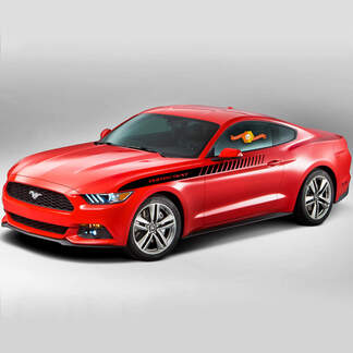FORD MUSTANG 2015-2017 UPPER SIDE ACCENT STROBE VINYL STRIPES