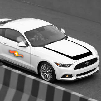 FORD MUSTANG 2015-2020 HOOD ACCENT DECAL VINYL STRIPE