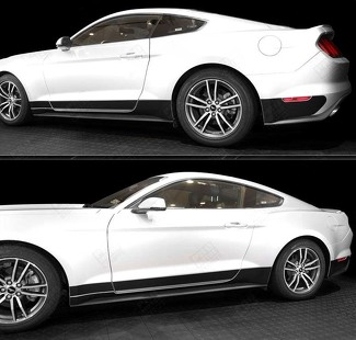 FORD MUSTANG 2015-2017 ROCKER PANEL BLACKOUT SIDE STRIPES