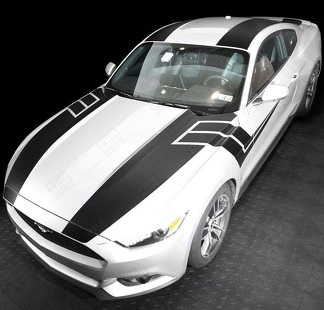 FORD MUSTANG 2015-2017 OVER THE TOP & SIDE SPORT STRIPES