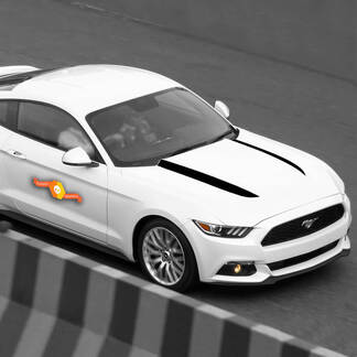 FORD MUSTANG 2015-2020 HOOD SPEARS SIDE ACCENT DECALS STRIPES
