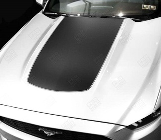 FORD MUSTANG 2015-2017 HOOD ACCENT STRIPE DECAL W/ PINSTRIPE