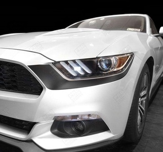 FORD MUSTANG 2015-2017 HEADLIGHT FRONT ACCENT DECALS STRIPES