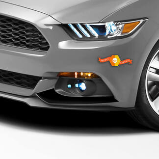 Ford Mustang 2015-2020 Front Fog Lights Accent Decals Stripes
