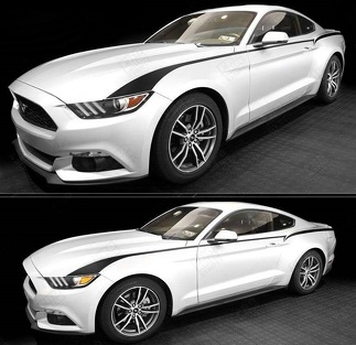FORD MUSTANG 2015-2017 FRONT TO REAR SIDE ACCENT STRIPES