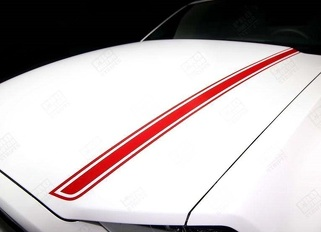 FORD MUSTANG 2013-2014 HOOD SPEAR SIDE ACCENT STRIPES