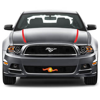 FORD MUSTANG 2013- 2020 HOOD SPEAR SIDE STRIPES
