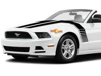 Ford Mustang 2013-2020 kap aan de zijkant dubbele strepen