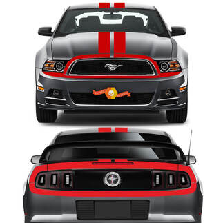 Ford Mustang 2013-2020 Over-The-Top Retro Style Stripes