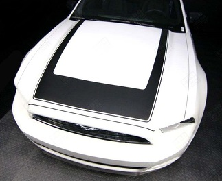 FORD MUSTANG 2013- 2014 RTR STYLE HOOD ACCENT STRIPE DECAL