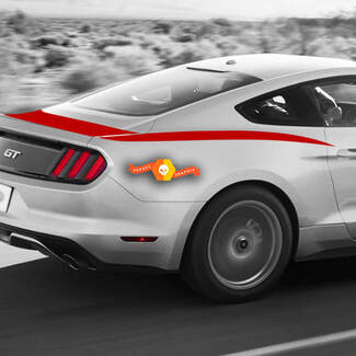 FORD MUSTANG 2013-2014 TRUNK TO SIDE REAR ACCENT STRIPES