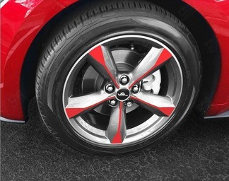 FORD MUSTANG 2015-2017 WHEEL SPOKE OVERLAY DECALS FOR 18