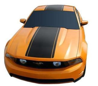FORD MUSTANG 2010-2012 PRE-CUT FACTORY STYLE OVER-THE-TOP STRIPES