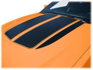 FORD MUSTANG 2010-2012 HOOD SCOOP TOP & SIDE SPEAR STRIPES