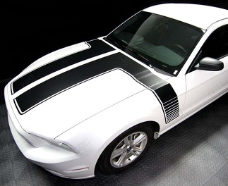 FORD MUSTANG 2013- 2014 HOOD TO SIDE DOUBLE STRIPES