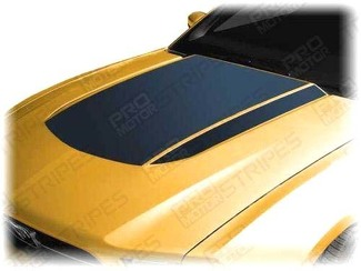 FORD MUSTANG 2010-2012 HOOD SCOOP BLACKOUT & SIDE SPEAR STRIPES