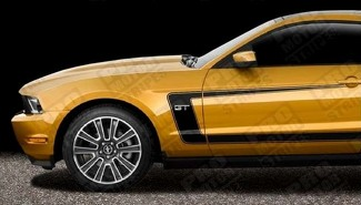 FORD MUSTANG 2010-2020 GT / 5.0 BOSS 302 STYLE SIDE C STRIPES