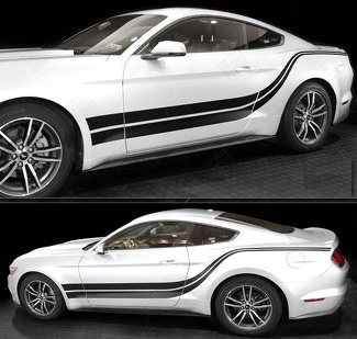 FORD MUSTANG 2005-2017 SIDE ACCENT DOUBLE STRIPES
