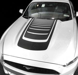 FORD MUSTANG 2005- 2017 HOOD ACCENT DECALS SPORT STRIPES