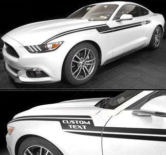 FORD MUSTANG 2005-2017 LIGHTNING BOLT SIDE ACCENT STRIPES