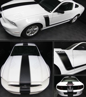 FORD MUSTANG 2005-2017 BOSS 302 STYLE SIDE & TOP STRIPES