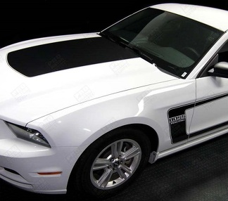 FORD MUSTANG 2005 - 2017 BOSS 302 STYLE HOOD & SIDE STRIPES