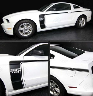 FORD MUSTANG 2005-2014 SIDE HOCKEY STYLE ACCENT STRIPES