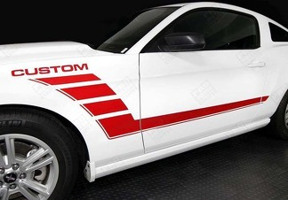 FORD MUSTANG 2005- 2014 SIDE ACCENT STROBE STRIPES