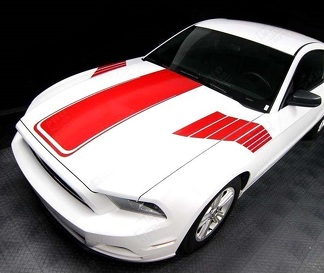 FORD MUSTANG 2005-2014 HOOD AND SIDE STROBE STRIPES