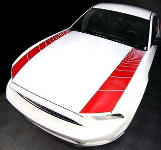 FORD MUSTANG 2005-2009 & 2013-2014 HOOD SIDE STROBE STRIPES ACCENT DECALS