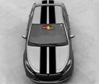 DODGE DART 2013-2020 OVER THE TOP RALLY DOUBLE STRIPES