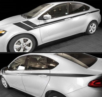 DODGE DART 2013- 2018 SIDE ACCENT FENDER HASH LONG STRIPES