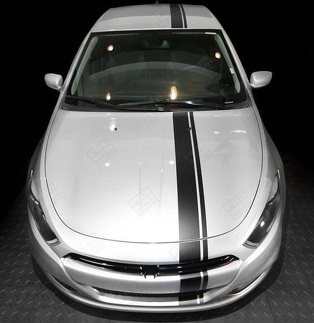 DODGE DART 2013-2018 OVER THE TOP SIDE OFFSET STRIPES