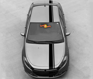 DODGE DART 2013-2020 OVER THE TOP SIDE OFFSET STRIPES