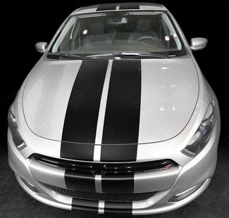 DODGE DART 2013- 2018 OVER THE TOP RALLY DOUBLE STRIPES